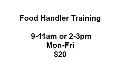 food handler traingin